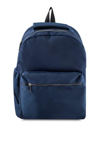JAXON navy Nylon Backpack A0F67ACA031A8BGS_1