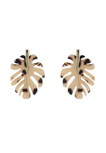 7597b61aaba09 Resin Monstera Leaf Earrings