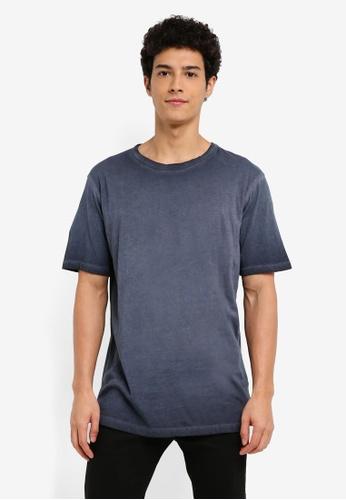 MANGO Man blue Bleached T-Shirt 0CE26AABD384B5GS_1