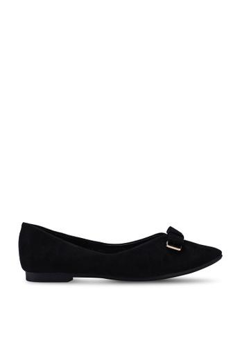 Kimmijim black Jaquelyn Pointed Toe Ballerinas CFC08SHF991607GS_1