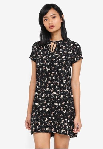 Something Borrowed black Tie Detail Shift Dress CC981AAAEE294DGS_1