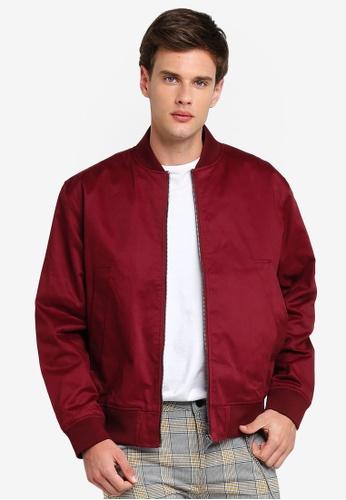 Topman 紅色 酒紅色 飛行外套 A0A08AA6F177EFGS_1