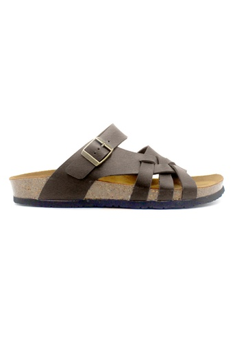SoleSimple brown Istanbul - Dark Brown Leather Sandals & Flip Flops FD736SHB577346GS_1