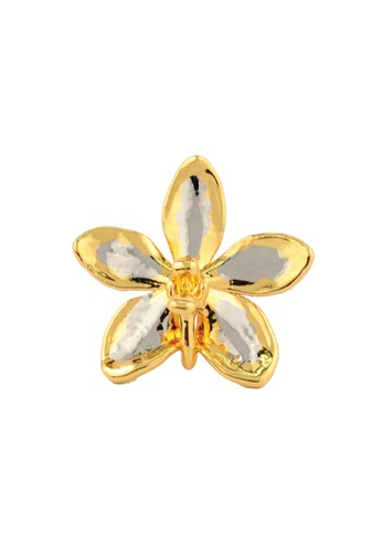 RISIS multi RISIS 24K Gold and Palladium Plated Natural Aeridovanda Vieng Ping Orchid Brooch/Pendant 649CAAC26D486CGS_1