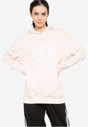 ADIDAS white adidas adicolor trefoil hoodie B3858AA81BAFE5GS_1