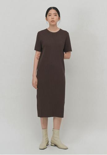 We Enjoy Simplicity brown Jaron Knit Midi Dress (Brown) C8406AA6D303BFGS_1