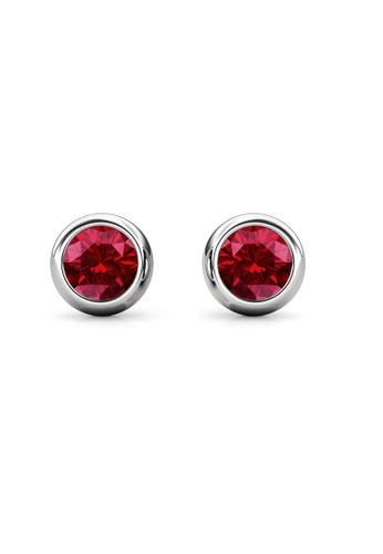 Her Jewellery red Birth Stone Moon Earring January Garnet WG - Anting Crystal Swarovski by Her Jewellery AC6B5ACF6EB879GS_1