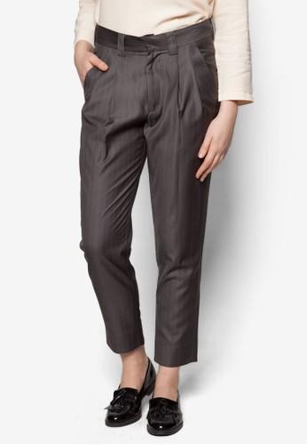 細條紋esprit 旺角西裝長褲, 服飾, 直腳褲