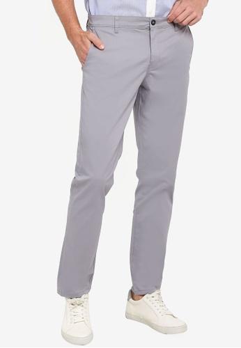 LC Waikiki grey Slim Fit Gabardine Chino Trousers 5DC5FAA2854DFBGS_1