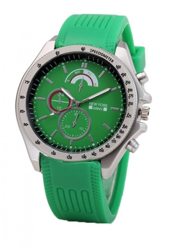 Greatvalueplus green Newyork Army Men's Analog Silicone Watch EC7F7AC3FED112GS_1