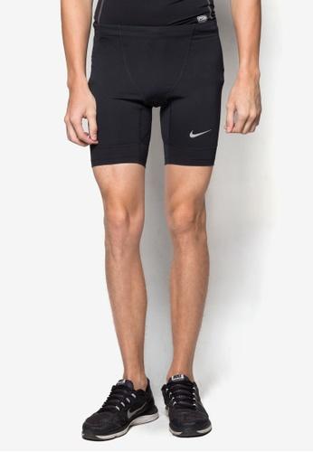 Nike black and silver Nike Tech Half Tights NI126AA76HXRSG_1