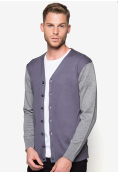 Knitted Colourblock Cardigan
