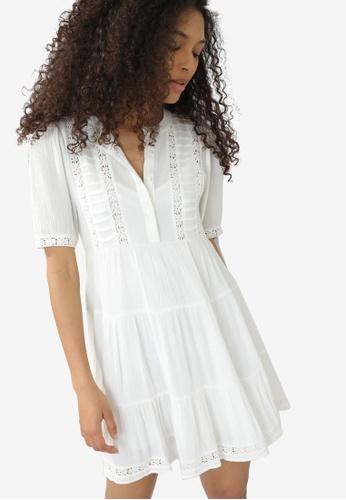PIMKIE white Short Guipure Dress 17670AA88D9432GS_1