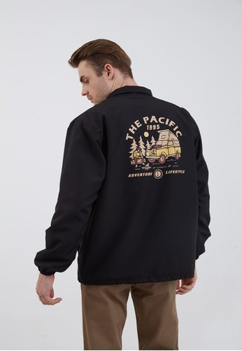 Berrybenka Label black Men Coach Jacket the Pacific 1995 Black 39A39AA176DC07GS_1