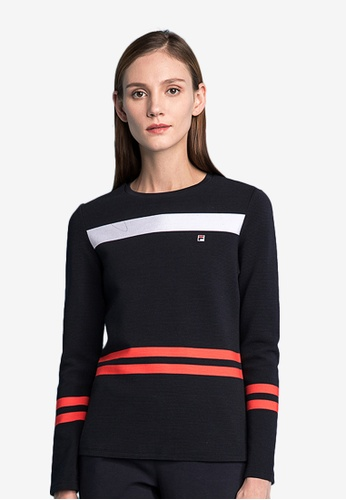 226747af6 Buy Fila Ginny Stripe Long Sleeve T-shirt Online on ZALORA Singapore