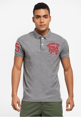 Superdry grey Classic Superstate Polo Shirt DFB10AADC86758GS_1