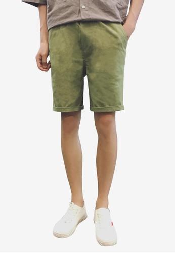 hk-ehunter green Men Embroidery Shorts AA0F0AAE19D1DDGS_1