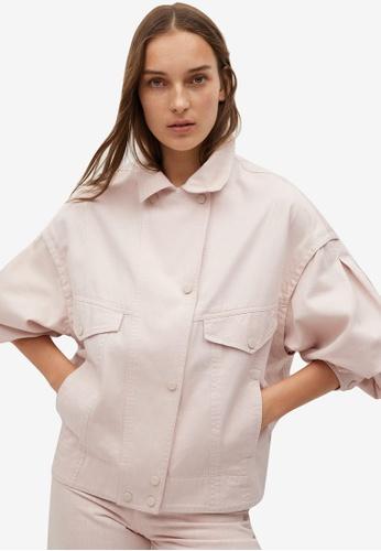 Mango pink Oversized Cotton Jacket D3EEAAAE63A788GS_1