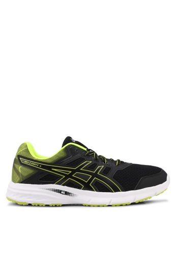 Asics black and yellow Gel-Excite 5 Shoes AS989SH0SVS6MY_1
