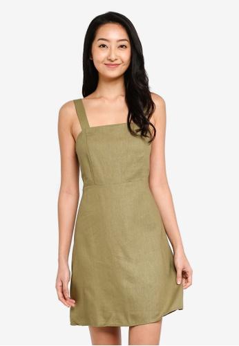 Cotton On green Woven Krissy Dress FB09EAA0FE4F57GS_1
