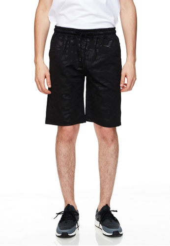 Life8 黑色 Casual Waterproof Zipper Knitted Elastic Camouflage Shorts-02489-Black 999FAAABB6E61BGS_1