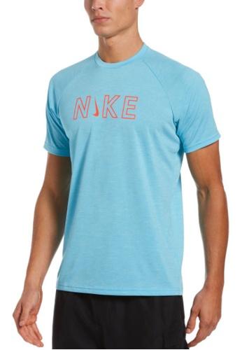Nike blue Nike Heather Logo Short Sleeve Hydroguard 0E965US56F0217GS_1