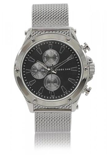 London Rag silver Men's Silver Watch With Metal Strap AB08BACA157F53GS_1