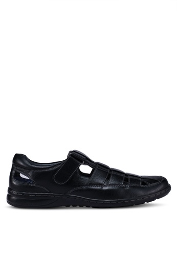 Bata black Strap On Shoes F3BBESH5B58198GS_1