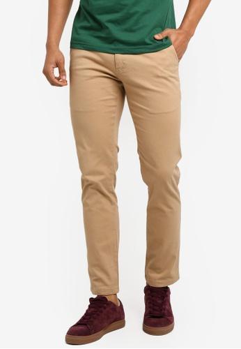 Marc & Giselle brown Khakis Long Pants 6E2E2AA59B0FEDGS_1