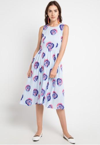 Just Jo Design blue Fania Dress - La Reine Blue 0E137AA2110FB2GS_1