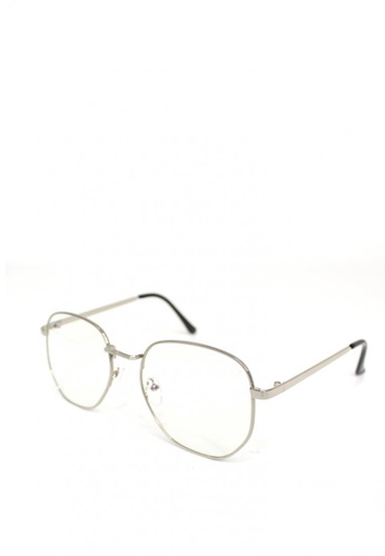 Peculiar and Odd silver Peculiar Square 8449 Anti Radiation Replaceable Lens Eyeglass 03D71GLA31FEA3GS_1