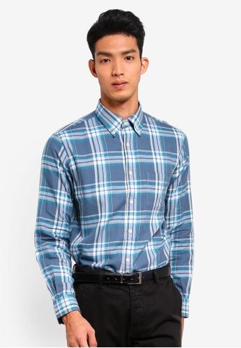 Brooks Brothers blue Red Fleece Summer Twill Shirt 7404DAAEA9FCFDGS_1