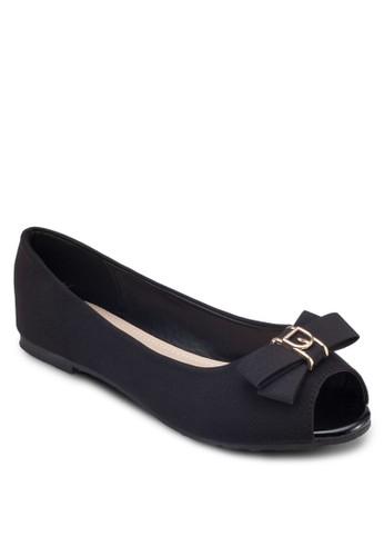 露趾蝴蝶結平底鞋, 女鞋,esprit 尖沙咀 鞋