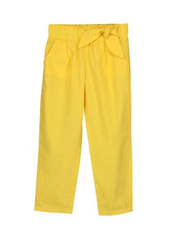 LC Waikiki yellow Waist Tie Detail Trousers BD750KA5E39B77GS_1