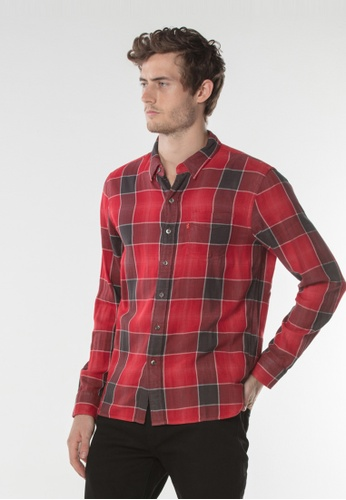 Levi's red Sunset One Pocket Shirt ABF6CAA1BF3B69GS_1