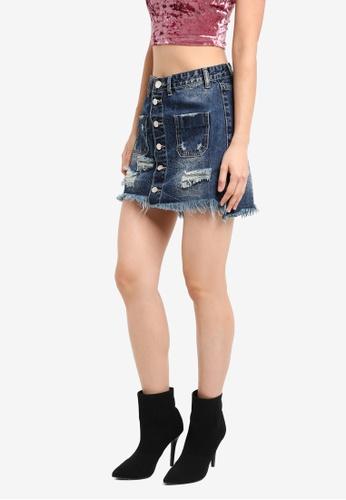 Glamorous blue Denim Mini Skirt GL059AA0SM0MMY_1