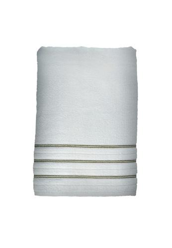 Charles Millen white SET OF 2 Charles Millen Allington Bath Towel 100% Turkish Combed cotton 70 x 140cm 426g. 679D2HLA5EAF81GS_1