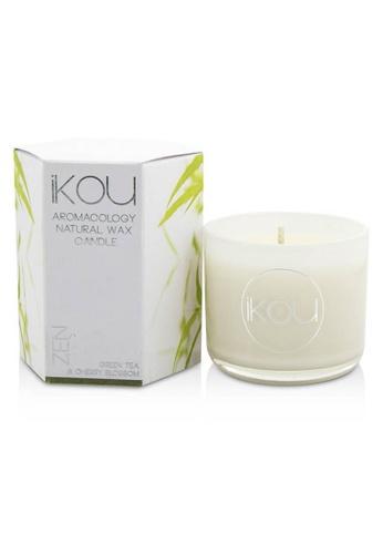 iKOU IKOU - Eco-Luxury Aromacology Natural Wax Candle Glass - Zen (Green Tea & Cherry Blossom) (2x2) inch F80C1HL89EA03AGS_1