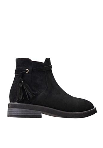 Twenty Eight Shoes black Fringed Ankle Boot VB1111 1B28CSHD84BE00GS_1