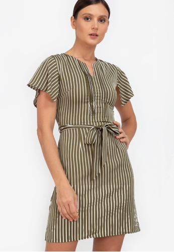 ZALORA WORK multi Handkerchief Sleeves Mini Dress 4D179AA9183374GS_1