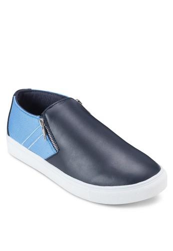 雙色拉鍊懶人鞋, 鞋,esprit 衣服 鞋