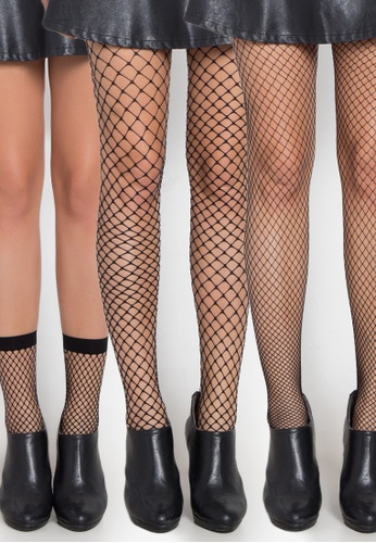 Kats Clothing black Foot Ankle Panty Hose Net Stockings   KA896US0KBGWPH_1