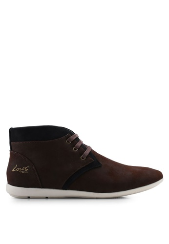 Louis Cuppers 褐色 Faux Leather Chukka Boots CA38CSH8EED6CEGS_1