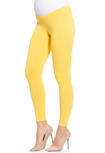 Mayarya yellow Maternity Essential Leggings 9E8FDAA7AC8AB8GS_1
