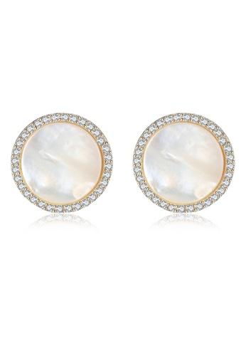 A.Excellence white Premium White Pearl Elegant Earring 5EFF4AC9196879GS_1