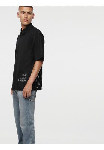 Diesel black S-Friday Shirt E714DAA1D99D71GS_1