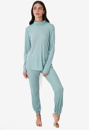 Trendyol blue Casual Pyjama Set 8B726AAAB56EBAGS_1