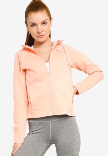 PUMA pink Evostripe Full-Zip Women's Hoodie B904FAADA8225DGS_1