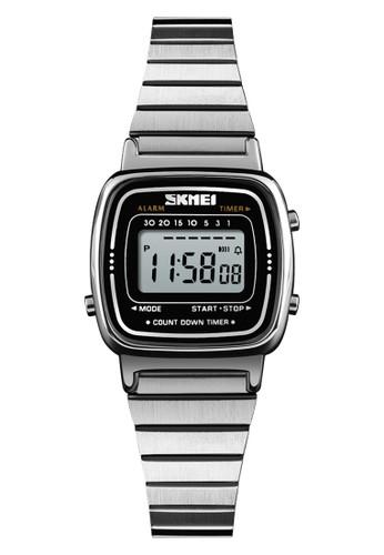 Digitec silver Skmei - Jam Tangan Wanita - Silver - Stainless Steel - 1252-F 30731AC4CD86D9GS_1