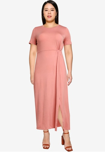 Vero Moda pink Plus Size Ava Lulu Ancle Dress 1EC36AA86F250CGS_1